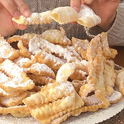 How to make Italian Chiacchiere di Carnevale 義大利狂歡節咔拉脆餅